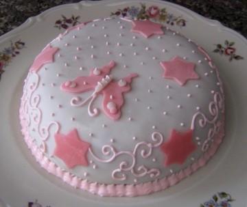 torta di mandorle con pasta di zucchero senza glucosio